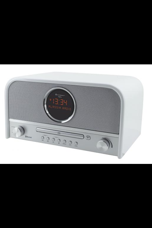 Radio rétro multifonctionnelle en blanc